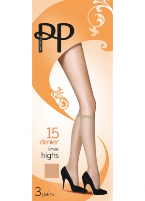 Pretty Polly 15D Everyday Knee Highs 3 Pair Pack